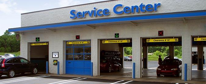 Service Drive Lane Signs Service Center Garage Bay
