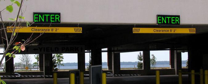 Led Entrance Signs Led Exit Signs Parking Garage