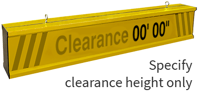 clearance bar reference image