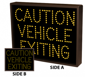 Directional Systems 10399 TCL1418DAA-A172 CAUTION VEHICLE EXITING | CAUTION VEHICLE EXITING Image