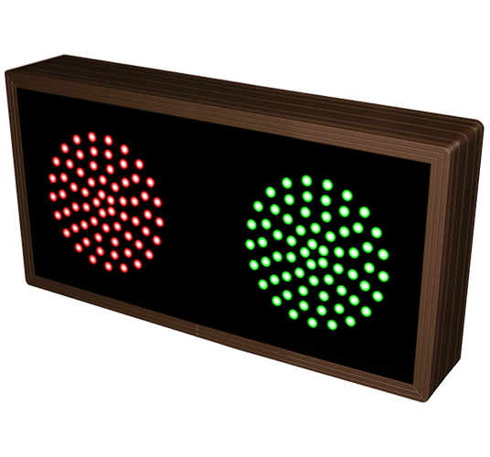 Directional Systems Product #10893 - Indicator Dots, Double, Horizontal, 4 in dia, Red - Green