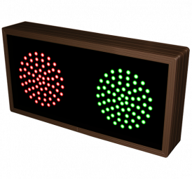 Directional Systems 10893 TCL714RG-225/120-277VAC Indicator Dots, Double, Horizontal, 4 in dia, Red - Green (120-277 VAC) Image