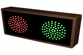 Indicator Dots, double, horizontal, Red - Green