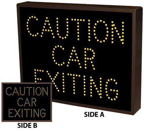 Directional Systems Product #13057 - CAUTION CAR EXITING