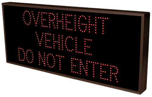 Directional Systems Product #18169 - OVERHEIGHT VEHICLE DO NOT ENTER