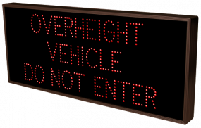 Directional Systems 18169 TCL1434R-726/120-277VAC OVERHEIGHT VEHICLE DO NOT ENTER (120-277 VAC) Image