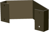 "Dual Angle bracket for use on 22"" x 22"" signs"