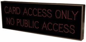 CARD ACCESS ONLY NO PUBLIC ACCESS
