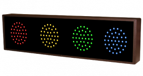 Indicator Dots, horizontal, quadruple, red, amber, green, blue