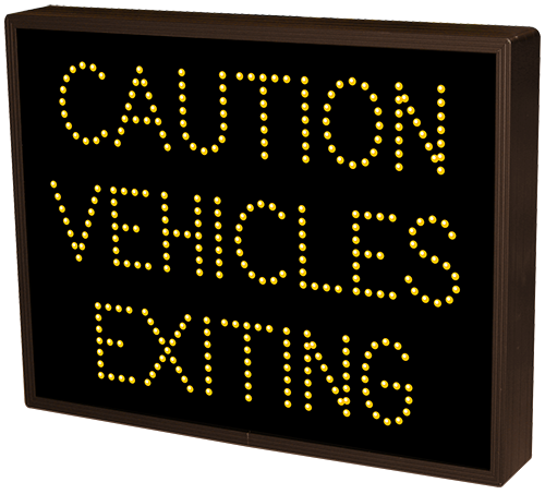 Directional Systems Product #19910 - CAUTION VEHICLES EXITING
