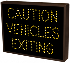 Directional Systems 19910 TCL1418A-171/120-277VAC CAUTION VEHICLES EXITING (120-277 VAC) Image