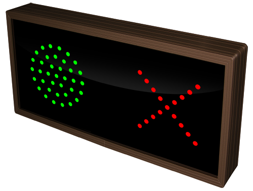 Directional Systems Product #21518 - 3.625 in dia, Green Indicator Dot | X