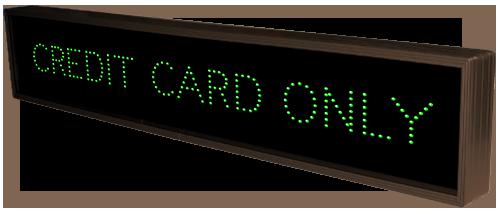 Cash Credit Credit Card Only 23969 Cashier Parking