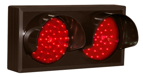 Directional Systems Product #25223 - Indicator Dots, Double with Hoods, Horizontal, 4 in dia, Red - Red