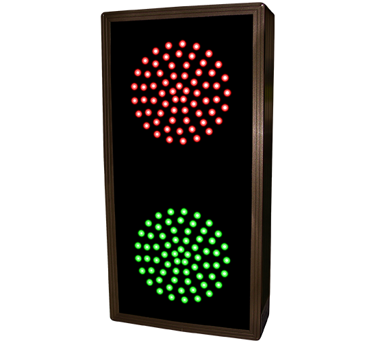 Directional Systems Product #30126 - Indicator Dots, Double, Vertical, 4 in dia, Red - Green