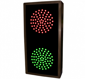 Directional Systems 30126 TCL147RG-225/12-24VDC Indicator Dots, Double, Vertical, 4 in dia, Red - Green (12-24VDC) Image