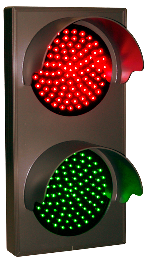 Directional Systems Product #30128 - Indicator Dots, Double with Hoods, Vertical, 4 in dia, Red - Green