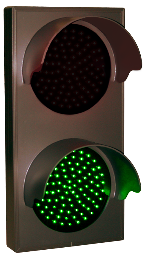 Directional Systems 30128 TCL147RG-225H/12-24VDC Indicator Dots, Double with Hoods, Vertical, 4 in dia, Red - Green (12-24VDC) Message 2 Image