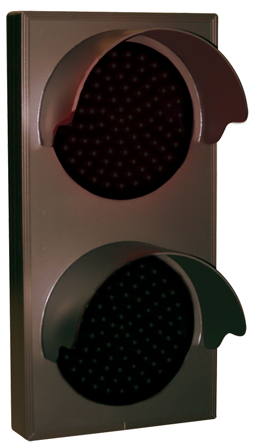 Directional Systems 30128 TCL147RG-225H/12-24VDC Indicator Dots, Double with Hoods, Vertical, 4 in dia, Red - Green (12-24 VDC) Message 3 Image