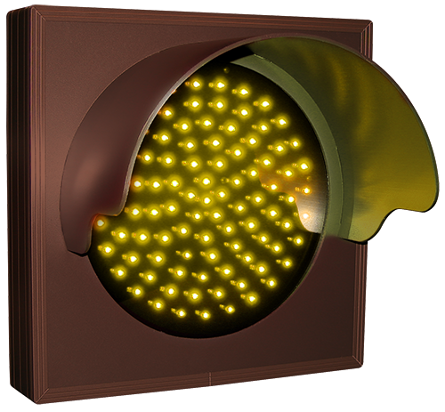Directional Systems Product #31695 - Indicator Dot, Single with Hood and Optional Flashing, 4 in dia, Amber