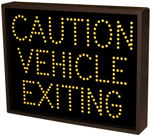 Directional Systems Product #33392 - CAUTION VEHICLE EXITING