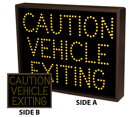 Directional Systems Product #33645 - CAUTION VEHICLE EXITING | CAUTION VEHICLE EXITING