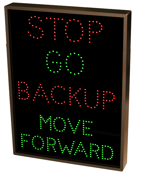 Directional Systems Product #34521 - STOP | GO | BACKUP | MOVE FORWARD