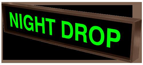 Night Drop 35452 Drive Thru Bank Signs Directional