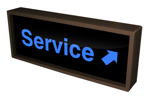 Directional Systems Product #37138 - Service w/Up Right Arrow