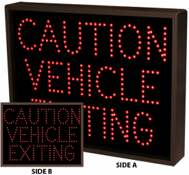 Directional Systems 37233 TCL1418DRR-A172/12-24VDC CAUTION VEHICLE EXITING | CAUTION VEHICLE EXITING (12-24VDC) Image