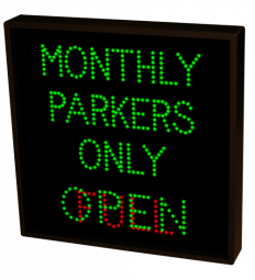 Directional Systems 37634 TCL2424GGR-J593/120-277VAC MONTHLY PARKERS ONLY | OPEN | FULL (120-277 VAC) Image