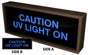 Directional Systems 38498 PHX718DBB-D755 CAUTION UV LIGHT ON | CAUTION UV LIGHT ON Image