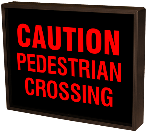 Directional Systems Product #38603 - CAUTION PEDESTRIAN CROSSING