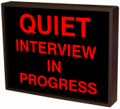 QUIET INTERVIEW IN PROGRESS