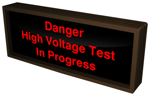 Directional Systems Product #38666 - Danger High Voltage Test In Progress