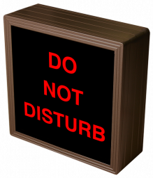 Directional Systems 38689 SBL77R-A810 DO NOT DISTURB Image