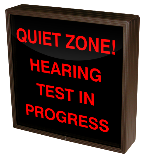 Directional Systems Product #38701 - QUIET ZONE! HEARING TEST IN PROGRESS