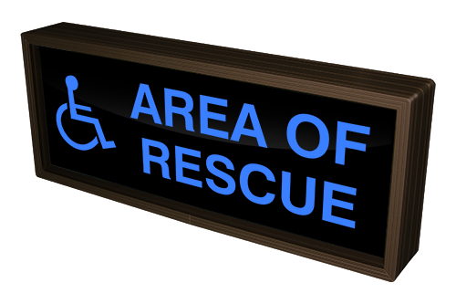 Directional Systems Product #38709 - AREA OF RESCUE w/Handicap Symbol