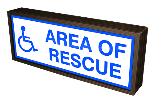 Directional Systems Product #38731 - AREA OF RESCUE w/Handicap Symbol