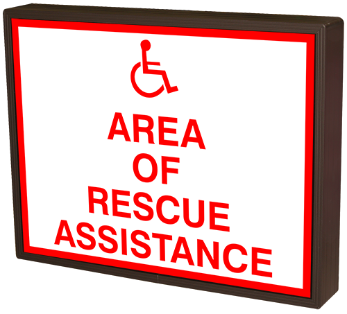 Directional Systems Product #38732 - AREA OF RESCUE ASSISTANCE w/Handicap Symbol