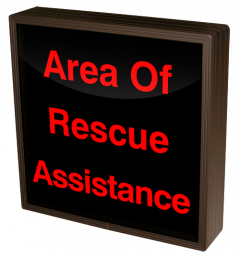 Directional Systems 38753 SBL1212R-B029/120-277VAC Area Of Rescue Assistance (120-277 VAC) Image