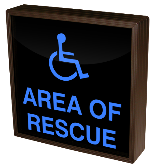 Directional Systems Product #38757 - AREA OF RESCUE w/Handicap Symbol