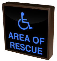 Directional Systems 38757 SBL1212B-915 AREA OF RESCUE w/Handicap Symbol Image