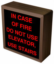 Directional Systems 38775 SBL77R-E840/120-277VAC IN CASE OF FIRE DO NOT USE ELEVATOR, USE STAIRS (120-277 VAC) Image