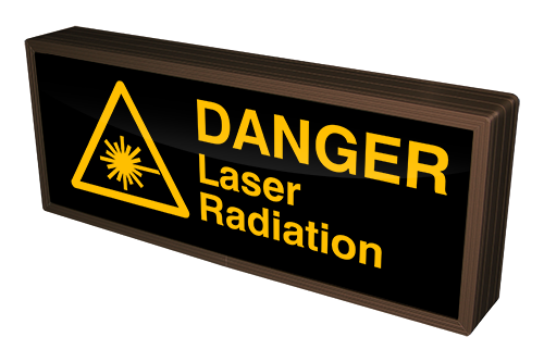 Directional Systems Product #38791 - DANGER Laser Radiation w/ Symbol