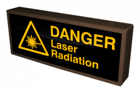 DANGER Laser Radiation w/ Symbol