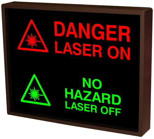 Directional Systems Product #38793 - DANGER LASER ON w/Symbol | NO HAZARD LASER OFF w/Symbol