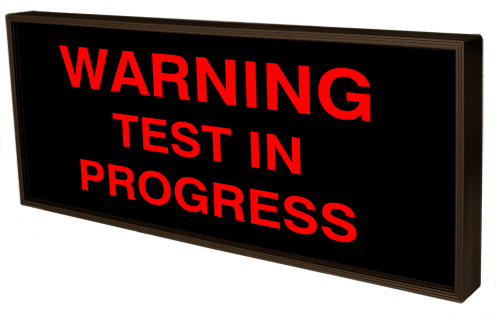 Directional Systems Product #38818 - WARNING TEST IN PROGRESS