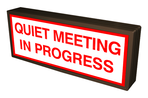 Directional Systems Product #38834 - QUIET MEETING IN PROGRESS