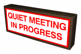 QUIET MEETING IN PROGRESS